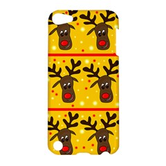 Christmas Reindeer Pattern Apple Ipod Touch 5 Hardshell Case by Valentinaart