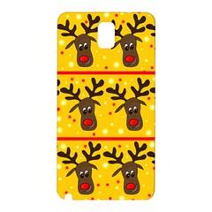 Christmas Reindeer Pattern Samsung Galaxy Note 3 N9005 Hardshell Back Case by Valentinaart