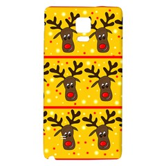 Christmas Reindeer Pattern Galaxy Note 4 Back Case by Valentinaart