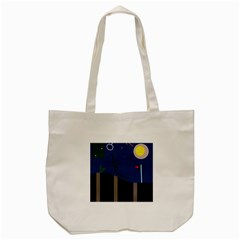 Abstract Night Landscape Tote Bag (cream) by Valentinaart