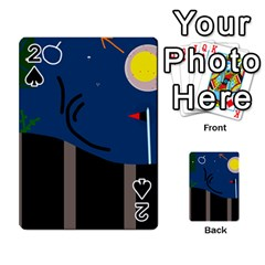 Abstract Night Landscape Playing Cards 54 Designs