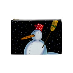 Lonely snowman Cosmetic Bag (Medium)