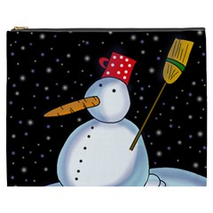 Lonely Snowman Cosmetic Bag (xxxl)  by Valentinaart