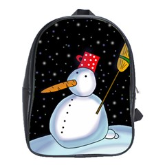 Lonely Snowman School Bags (xl)  by Valentinaart