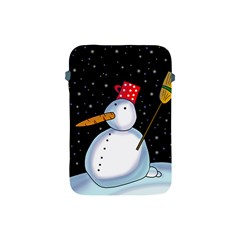 Lonely Snowman Apple Ipad Mini Protective Soft Cases by Valentinaart