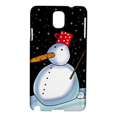 Lonely Snowman Samsung Galaxy Note 3 N9005 Hardshell Case by Valentinaart