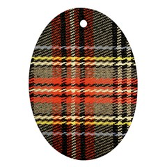 Fabric Texture Tartan Color  Ornament (oval)  by AnjaniArt
