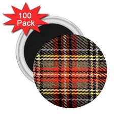 Fabric Texture Tartan Color  2 25  Magnets (100 Pack)  by AnjaniArt