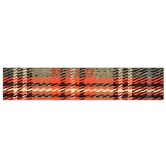 Fabric Texture Tartan Color  Flano Scarf (small) by AnjaniArt
