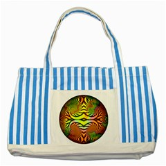 Fractals Ball About Abstract Striped Blue Tote Bag by AnjaniArt