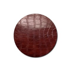Leather Snake Skin Texture Rubber Round Coaster (4 Pack)  by AnjaniArt