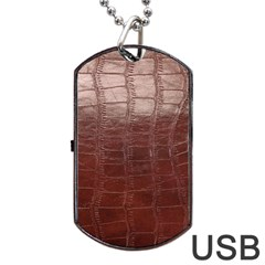 Leather Snake Skin Texture Dog Tag USB Flash (One Side) by AnjaniArt