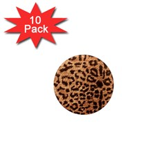 Leopard Print Animal Print Backdrop 1  Mini Magnet (10 Pack)  by AnjaniArt