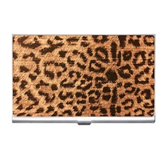 Leopard Print Animal Print Backdrop Business Card Holders by AnjaniArt