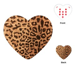 Leopard Print Animal Print Backdrop Playing Cards (heart)