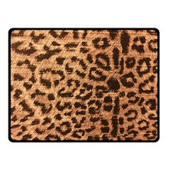 Leopard Print Animal Print Backdrop Double Sided Fleece Blanket (small)  by AnjaniArt