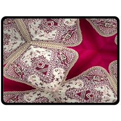 Morocco Motif Pattern Travel Double Sided Fleece Blanket (Large)  by AnjaniArt