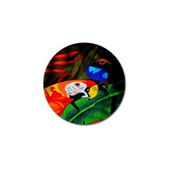 Papgei Red Bird Animal World Towel Golf Ball Marker (4 pack) by AnjaniArt