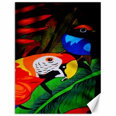 Papgei Red Bird Animal World Towel Canvas 18  X 24   by AnjaniArt