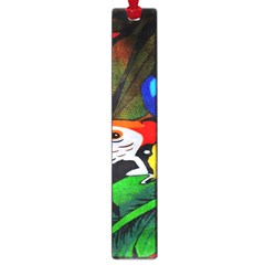 Papgei Red Bird Animal World Towel Large Book Marks by AnjaniArt