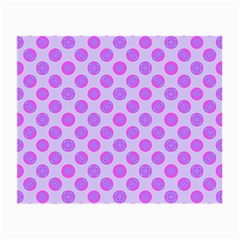 Pastel Pink Mod Circles Small Glasses Cloth by BrightVibesDesign