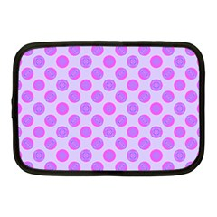 Pastel Pink Mod Circles Netbook Case (medium)  by BrightVibesDesign