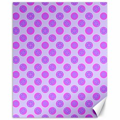 Pastel Pink Mod Circles Canvas 16  X 20   by BrightVibesDesign