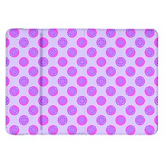 Pastel Pink Mod Circles Samsung Galaxy Tab 8 9  P7300 Flip Case by BrightVibesDesign