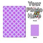 Pastel Pink Mod Circles Multi-purpose Cards (Rectangle)  Back 17