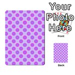 Pastel Pink Mod Circles Multi-purpose Cards (Rectangle)  Back 32