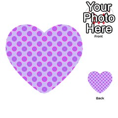 Pastel Pink Mod Circles Multi Purpose Cards (heart)  by BrightVibesDesign