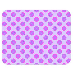 Pastel Pink Mod Circles Double Sided Flano Blanket (medium)  by BrightVibesDesign