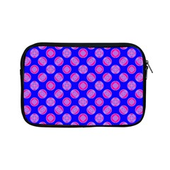 Bright Mod Pink Circles On Blue Apple Ipad Mini Zipper Cases by BrightVibesDesign