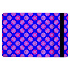 Bright Mod Pink Circles On Blue Ipad Air Flip by BrightVibesDesign