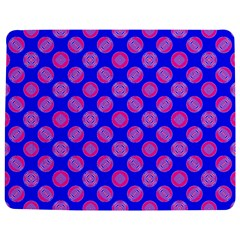 Bright Mod Pink Circles On Blue Jigsaw Puzzle Photo Stand (rectangular) by BrightVibesDesign