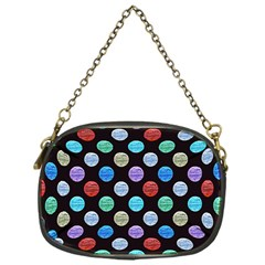 Death Star Polka Dots In Multicolour Chain Purses (one Side)  by fashionnarwhal