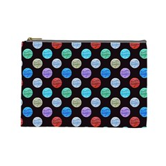 Death Star Polka Dots In Multicolour Cosmetic Bag (large)  by fashionnarwhal
