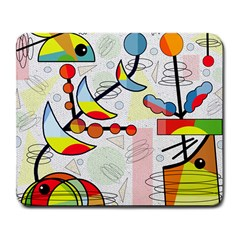 Happy Day Large Mousepads by Valentinaart