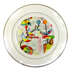 Happy Day Porcelain Plates by Valentinaart