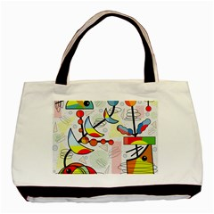 Happy Day Basic Tote Bag (two Sides) by Valentinaart