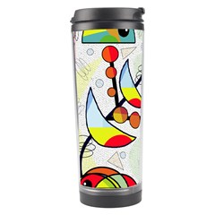 Happy Day Travel Tumbler by Valentinaart