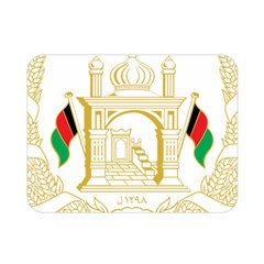 National Emblem Of Afghanistan Double Sided Flano Blanket (mini)  by abbeyz71