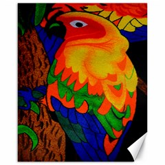 Parakeet Colorful Bird Animal Canvas 16  X 20   by AnjaniArt