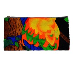 Parakeet Colorful Bird Animal Pencil Cases by AnjaniArt