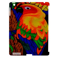 Parakeet Colorful Bird Animal Apple Ipad 3/4 Hardshell Case (compatible With Smart Cover) by AnjaniArt