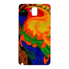 Parakeet Colorful Bird Animal Samsung Galaxy Note 3 N9005 Hardshell Back Case by AnjaniArt