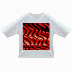 Red Fractal  Mathematics Abstact Infant/toddler T Shirts