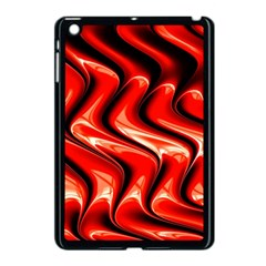 Red Fractal  Mathematics Abstact Apple Ipad Mini Case (black) by AnjaniArt