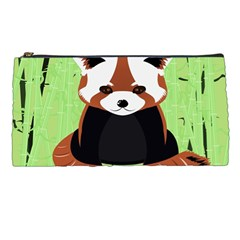 Red Panda Bamboo Firefox Animal Pencil Cases by AnjaniArt