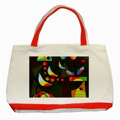 Happy Day 2 Classic Tote Bag (red) by Valentinaart